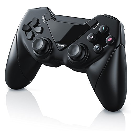 CSL - Wireless Gamepad für PC und Android | Controller mit Dual Vibration | Plug & Play | Direct-Input / X-Input