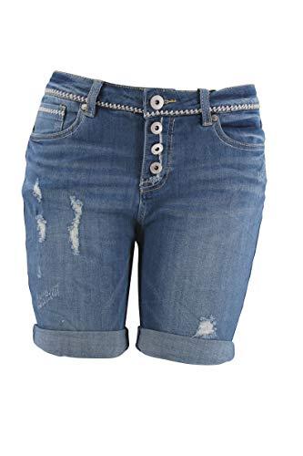 Eight2Nine Damen Jeansshort Short Jeans Bermuda 5 Pocket (S, Blue)