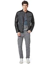 Tom Tailor Denim - Pantalon Chino Cargo Tom Tailor Denim Solid