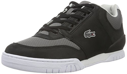 Lacoste L!ve, Indiana, Sneakers da Uomo, Nero (blk/dk gry), 42.5
