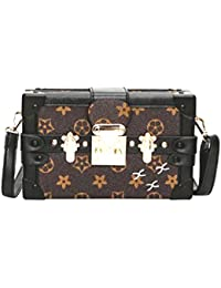 Di Grazia Women's Luggage Style Clutch Sling Bag (Coffee Brown, Brown-Star-Box--Sling-Bag)
