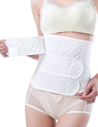 Vogue of Eden Women and Maternity Elastic Postpartum Recoery Support Band Girdle Belt White