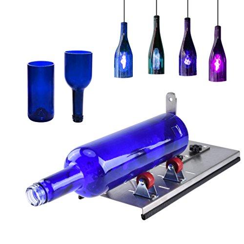 TOOLTOO DIY Glas Flasche Cutter Kit Edelstahl Flaschen Werkzeug verstellbar Bier Flasche Schneiden Maschine für Flaschen, Glas, silberfarben