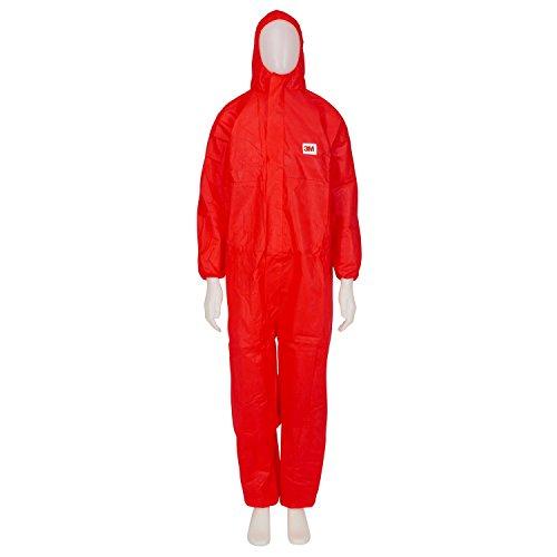 3M 4515 Indumento di protezione 5/6, SMS Polipropilene, Rosso, taglia XL