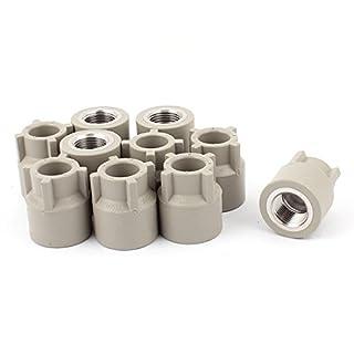 10 Stück 1 / 2BSP Innengewinde Gerade PPR Rohrverbinder Grau de