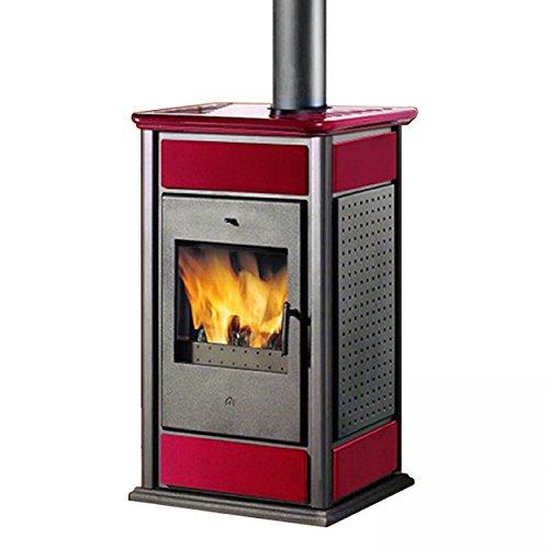 Edilkamin E624730 Kaminofen wasserführend Warm CS 14,9 kW Bordeaux