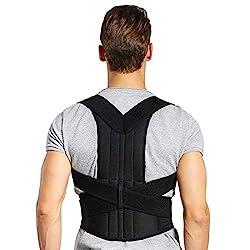 Haltungskorrektur Doact Geradehalter zur Haltungskorrektur Rücken Schulter Verstellbar Atmungsaktiv Rückenbandage Rückenhalter für Damen und Herren XXL(Taillenumfang Taille 114-132cm)