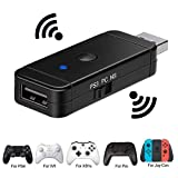 GZW-Shop Adattatore Bluetooth convertitore di Controller PRO Switch e PC, Xbox One/ PS4 / PS3 / Xbox360/ Wii U PRO USB Wireless/cablato Controllore
