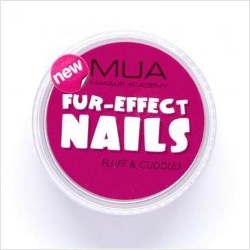 MUA Professional Make Up - Fur Effect Nail Art-Fluff&Cuddles Burgundy