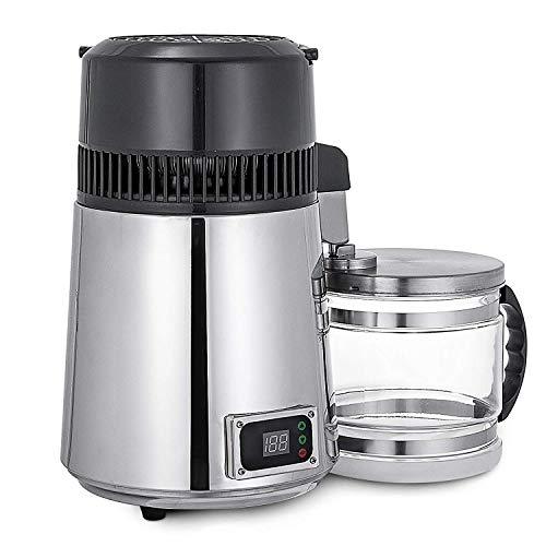 BananaB SC-3 4L Wasser Destilliergerät 750W Silber Wasserdestille Wasserspender Temperaturgesteuert Filterkannen Pure Water Distiller Edelstahl (SC-3)