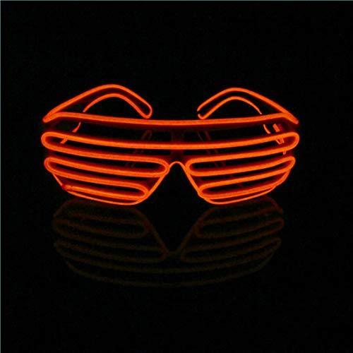 Lerway EL Draht Neon Wire Leuchtbrille LED Partybrille Sonnenbrille für Weihnachts Dekoration, Neujahr Club, Bar Disko, Kostüm Konzert Rave