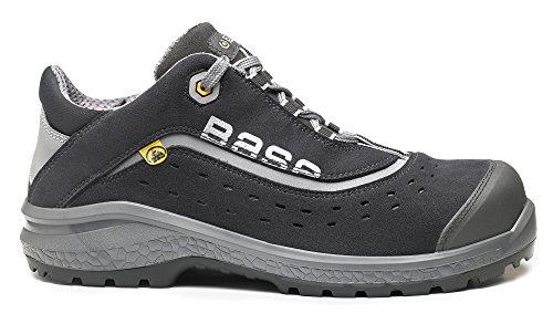 Base BO886 Style S1P ESD unisexe Classic Plus sécurité antidérapante lacé Trainer chaussure Noir / orange
