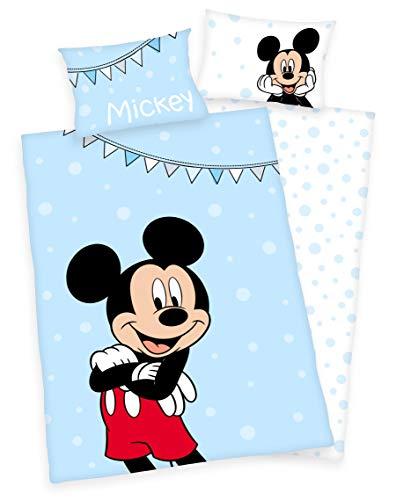 Disney`s Mickey Mouse Bettwäsche 40 x 60 cm + 100 x 135 cm Baumwolle