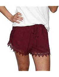 294359ad1ff4 Resplend Damen Hotpants Sommer-Beiläufige Kurzschlüsse Chiffon Weite  Beinhosen Shorts Lässige Kurze Hose Mittlere Taille