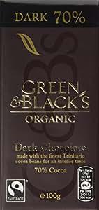 Green & Black's Organic 70% Dark Chocolate Bar, 100g (Pack of 5)