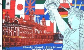 AZ FLAG Bandera Isla DE LA Libertad DE Nueva York