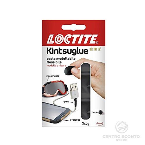Loctite kintsuglue pasta flessibile modellabile 3 dosi da 5 gr colore nero