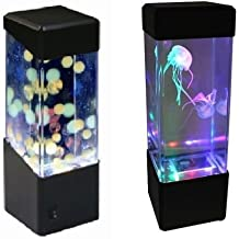 Jellyfish Water Ball Tropical Fish Aquarium Tank Mesmerising LED Lights Relaxing Mood Lamp Light by Playlearn (Jelly Fish) by Playlearn