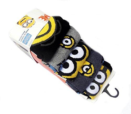 Image of Men's Minions socks 5 Pairs UK 6-12 EU 39-46 (9-12, Minions Design)