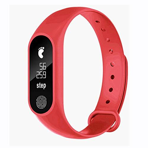YBWZH M2 Sport Schrittzähler Smart Armband Herzfrequenz Bluetooth V4.0 Smart Uhr Fitness Armband mit Pulsmesser,Fitness Tracker Farbbildschirm Aktivitätstracker Schrittzähler Uhr
