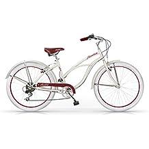 MBM Honolulu Bicicletta Donna 26', Avorio, 45 cm