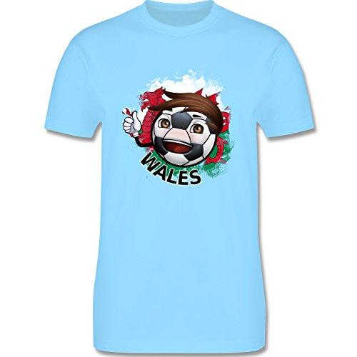 EM 2016 - Frankreich - Fußballjunge Wales - Herren Premium T-Shirt Hellblau