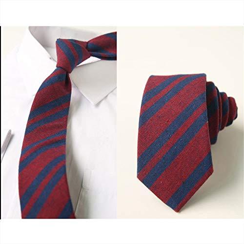 937a5101f Wangwang454 Uniforme De Tela Escocesa Corbata A Cuadros Ortodoxo Rayas Neta  Rojo Uniforme Corbata Estudiante