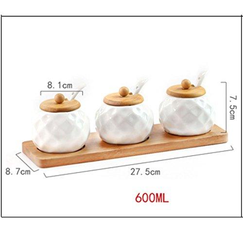 Küche japanischer stil keramik gewürz schachtel Startseite Salzstreuer Spice jar Dreiteilige Chili sauce jar Spice-dosen-U -