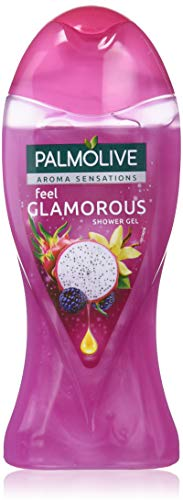 Palmolive Aroma Sensations, Feel Glamorous, Gel Douche, Mûre, Vanille Bourbon et Fruit du Dragon, Violet, 250 ml, Lot de 12