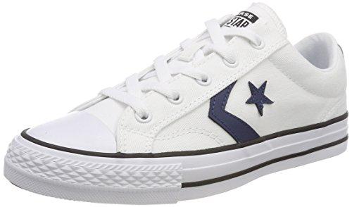 Converse Unisex-Erwachsene Star Player OX White/Navy/Black Sneaker, Weiß 102, 38 EU