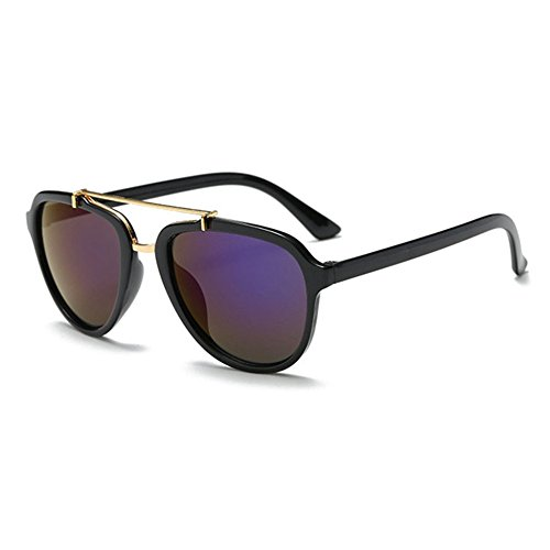 Aoligei Gezeiten aktuelle Sonnenbrillen Metall Doppel Liang Quecksilber Brille Retro-große Outdoor-Sonnenbrille mit Rahmen