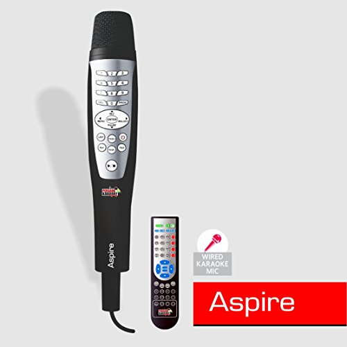 Aspire Karaoke Wired Microphone Music System with Remote for Singing - (Free Songs-6402) by Persang Karaoke  available at amazon for Rs.11990