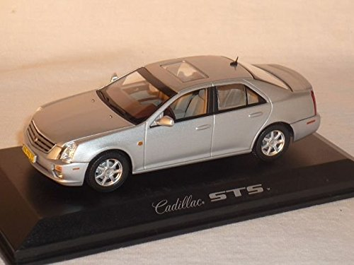 norev-cadillac-sts-saloon-model-car-silver-143-scale