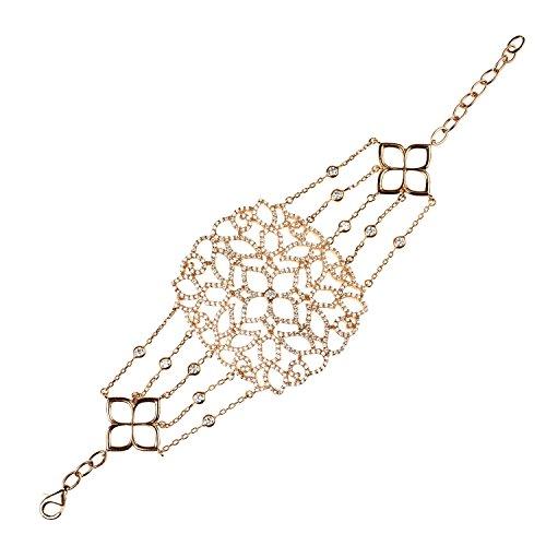 Cassandra Collection 22ct Rose Gold Vermeil Micro pave Filigree Bracelet