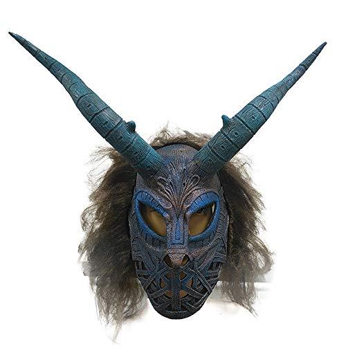 Villain Kostüm Marvel - PENGWH Film und TV Requisiten Marvel Movie Panthers Villain Mask Perücken Horror Latex Maske