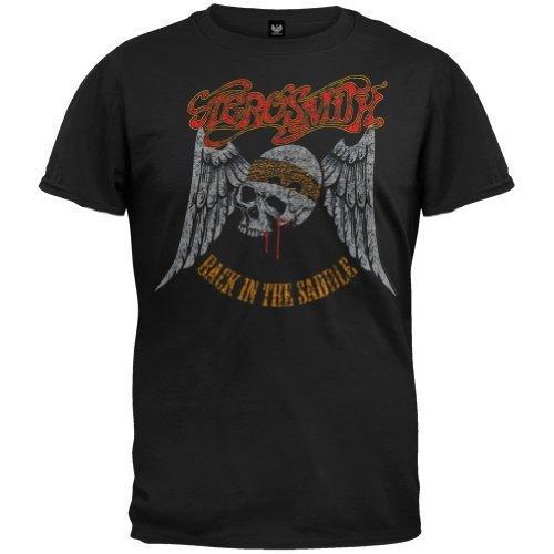 Old Glory - Camiseta - Hombre de color Negro de talla XX-Large - Aerosmith - Uomo Back In The Saddle (Camiseta) 2X-Large Nero