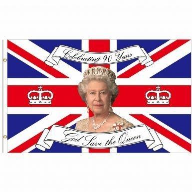 Queen Elizabeth zum 90. Geburtstag Souvenir Flagge (Royal Queen Elizabeth)