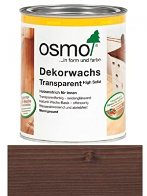 0,75L Osmo Dekorwachs 3161 Ebenholz transparent Holz Wachs Holzwachs