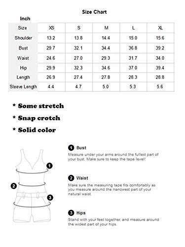 MAKEMECHIC Damen Kurzarm Tops Basic V-Ausschnitt Body Body Dessous - schwarz - Mittel - 6