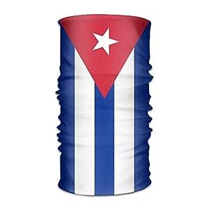 rongxincailiaoke Stirnband Bandanas Flag of Cuba Outdoor Scarf Bandana
