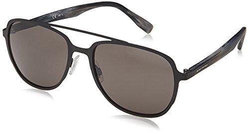 Boss orange bo 0301/s ir 003 occhiali da sole nero (matt black/gy grey) 56 uomo
