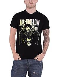 All Time Low T Shirt Neon Photo band logo officiel Homme Noir