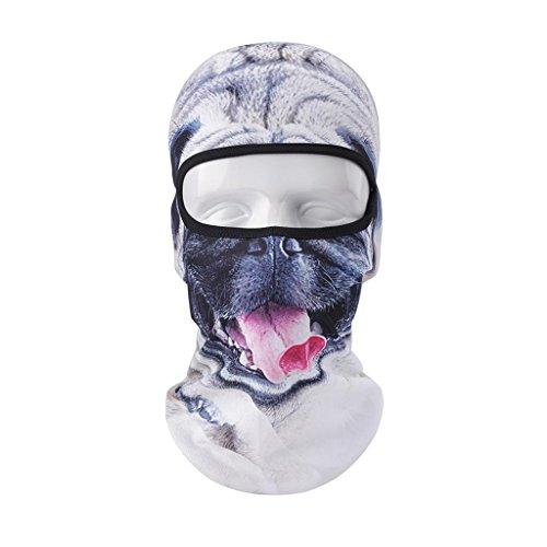VERTAST balaclava Sturmhaube, 3d Tier aktive Kopfhaube für Skifahren Radfahren Motorradfahren Helm Liner Wandern camping Nackenwärmer, Böser Hund