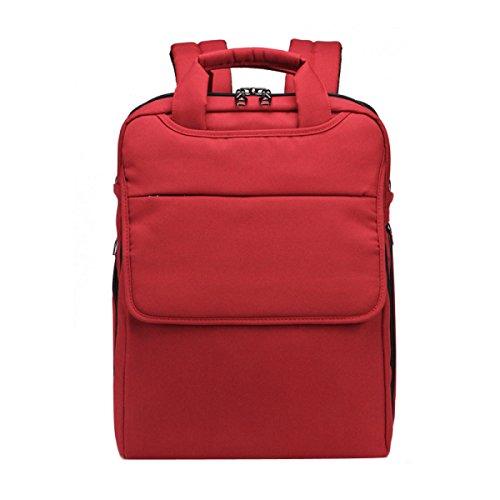 HAOYUXIANG Einfache Und Elegante Mittelschüler Lässig Sporttasche,Black Red