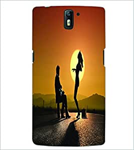 PRINTSWAG LOVE COUPLE Designer Back Cover Case for ONE PLUS ONE