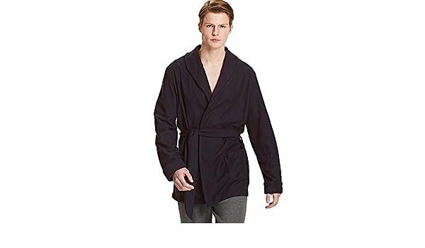 Vestaglia Da Camera Uomo : Ragno giacca da camera uomo in morbido pile in tinta unita grigio