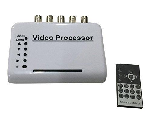 Camecho ® 4-CH Processor Kit Manica DVR CCTV Quad videocamera Sistema splitter switcher (colore)