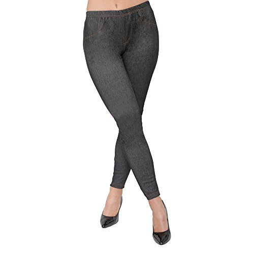 Minni Rossa New Ladies Pack of 3 Stretchy Denim Look Skinny Jeggings Leggings Womens Plus Size 8-26 UK