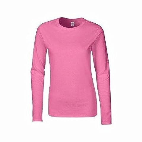 Gildan - T-shirt à manches longues - Femme (2XL) (Azalée)