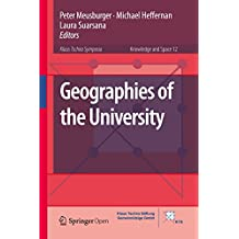Geographies of the University (Knowledge and Space Book 12) (English Edition)